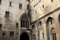 Le palais papal, Avignon photographie stock