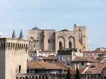 Le palais papal est un palais historique situé à Avignon, France du sud  photos libres de droits
