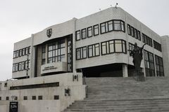 Le palais slovaque du parlement photographie stock libre de droits