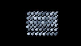 le palline da tennis della Tabella 4k egg il fondo di gocce delle goccioline, stampante il contesto di tessitura stock footage