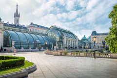 Le Palmenhaus dans le Burggarten, Vienne, Autriche image stock