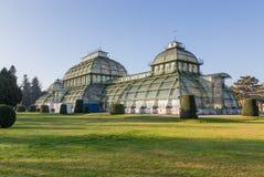 Le Palmenhaus en parc de palais de Schonbrunn, Vienne, Autriche Images libres de droits