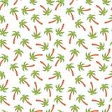Le palmier, modèle sans couture sur le blanc a isolé le fond Illustration de vecteur Photos stock