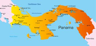 Le Panama illustration libre de droits