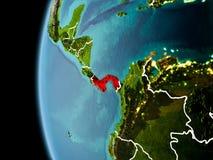 Le Panama de l'espace dans la soirée illustration libre de droits