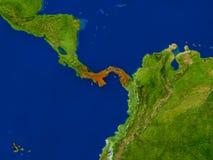 Le Panama de l'espace en rouge Photos stock