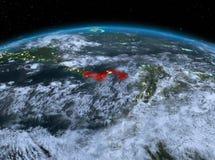 Le Panama de l'espace la nuit Photographie stock