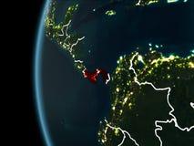 Le Panama de l'espace la nuit Photos libres de droits