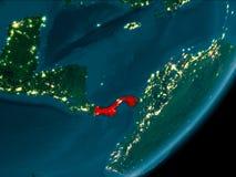 Le Panama de l'espace la nuit Images libres de droits