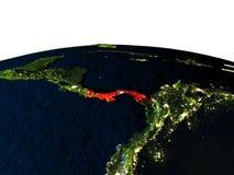 Le Panama de l'espace la nuit Image stock