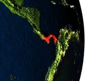 Le Panama de l'espace pendant le crépuscule Photo stock