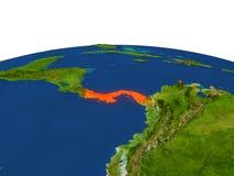 Le Panama en rouge d'orbite Photos libres de droits