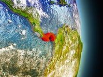 Le Panama en rouge de l'espace Images libres de droits