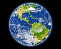 Le Panama en rouge de l'espace Photographie stock