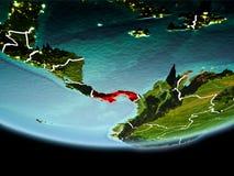 Le Panama en rouge le soir Image libre de droits