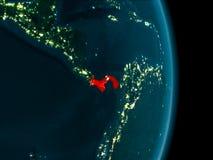 Le Panama la nuit Image libre de droits