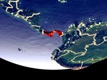 Le Panama la nuit de l'espace illustration libre de droits