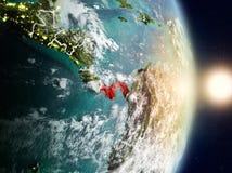 Le Panama pendant le lever de soleil Image libre de droits