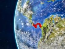 Le Panama sur le globe de l'espace illustration libre de droits