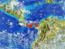 Le Panama sur terre de l'espace illustration stock