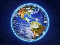 Le Panama sur terre de l'espace illustration libre de droits