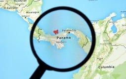 Le Panama sur une carte Images libres de droits