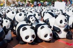 Le panda est fait à partir du papier réutilisé Image libre de droits
