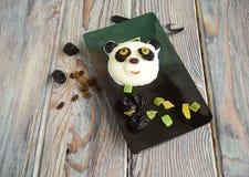 Le panda fait de crème glacée  image stock