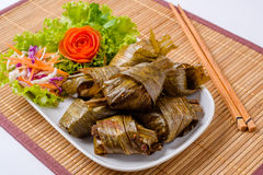 Le Pandanus frit par poulet est délicieux Images stock