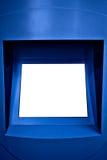 le Panel de l'information lumineux a mis le blanc des textes votre image libre de droits