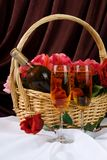 Le panier de Valentine Photo stock