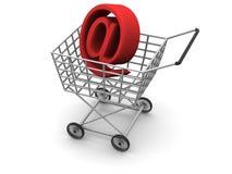 Le panier du consommateur Image libre de droits