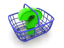 Le panier du consommateur Images stock