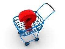 Le panier du consommateur. question Photo libre de droits