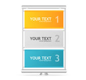 Le panneau d'affichage vertical de vecteur aiment des zones de texte Image libre de droits