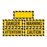 le panneau d'avertissement de précaution d'attention de danger avec le fond vide incluent illustration libre de droits