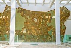 Le panneau de mosaïque sur le mur photographie stock