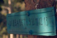 Le panneau de score du petanque Image stock