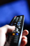 Le panneau lointain de la TV photographie stock