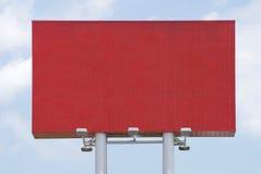 Le panneau-réclame blanc rouge pour le film publicitaire annoncent Photos stock