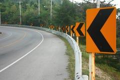 Le panneau routier de flèche Photos libres de droits