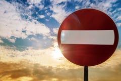 Le panneau routier n'entrent pas Photo libre de droits