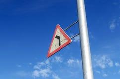 Le panneau routier triangulaire russe Image libre de droits