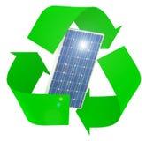 Le panneau solaire à l'intérieur du symbole réutilisent images libres de droits