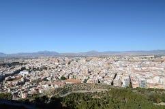 Le panorama d'Alicante Photographie stock libre de droits