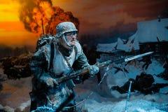"""le panorama 3D a appelé l'""""Moscow 1941  de Counteroffensive†à l'""""Russia, mon parc historique de  de History†Photos stock"""
