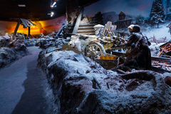 """le panorama 3D a appelé l'""""Moscow 1941  de Counteroffensive†à l'""""Russia, mon parc historique de  de History†Photo stock"""