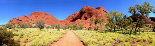 Le panorama d'Olgas Kata Tjuta Photo stock