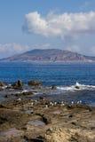 Le panorama de Favignana Photos libres de droits