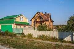 Le panorama de la ville de Belgorod photographie stock libre de droits